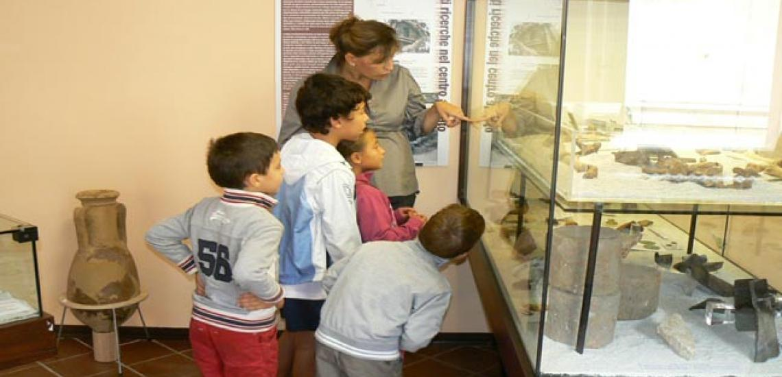Children visiting the museum